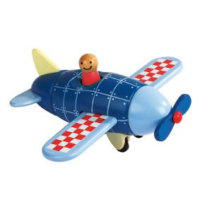 stewardess-flugzeug-holz